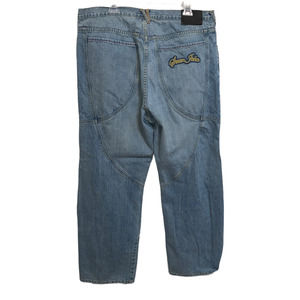 SEAN JOHN Y2K Baggy Wide Leg Oversize Jeans Size 38 100% Cotton Twisted Seams